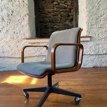 Mid century desk chair Knoll office chair mid century modern arm chair by VintaDelphia