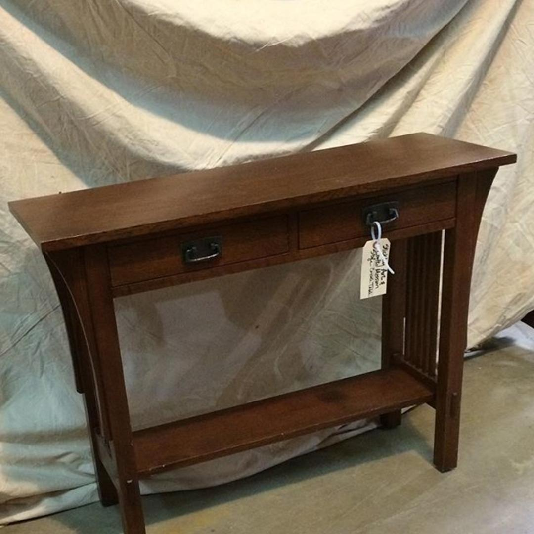 Stickley arts and crafts mission style console table from for Arts and crafts style table