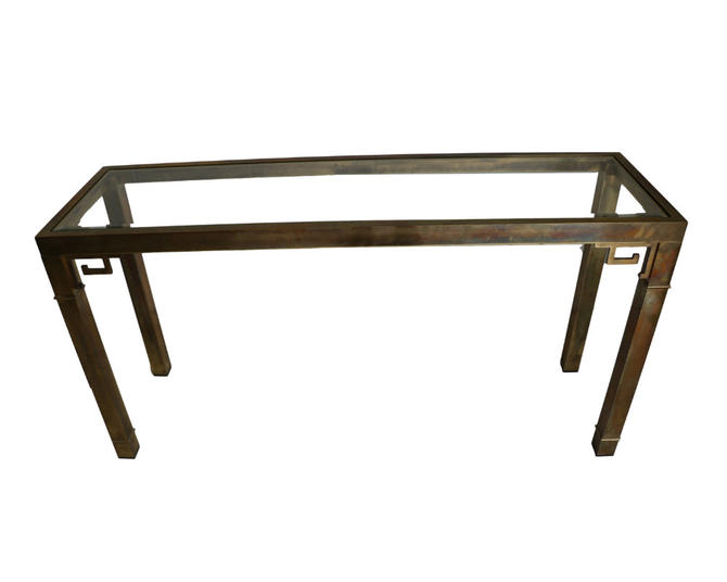 Mid Century Br Sofa Or Console Table By Mastercraft Furniture Marykaysfurniture