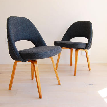 Early Knoll Eero Saarinen Armless Executive Chair with Bentwood Legs - 2 Available by MidCentury55