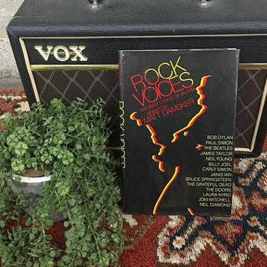 Vintage Rock Voices Book Retro 1980s The Best Lyrics of an Era + Matt Damsker + Musicians + Folk + Rock + Hardcover + Coffee Table Book by RetrospectVintage215