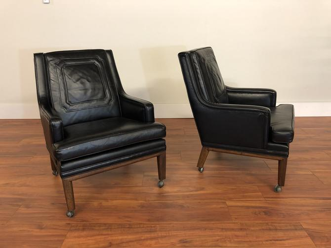 Monteverdi-Young Leather Chairs Pair