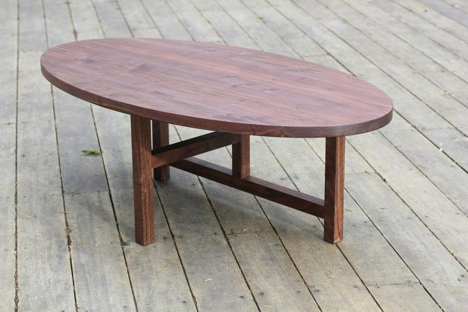 Oval Coffee Table by MakersWoodworks