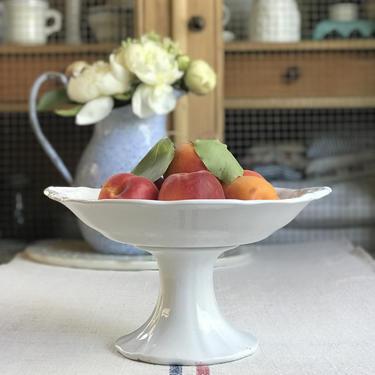Beautiful sought after vintage  Dutch ironstone fruit bowl (compotier) by Grainsacfrenchvintag