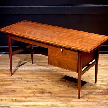 Drexel Declaration Walnut Desk by Kipp Stewart - Mid Century Modern Danish Style Office Furniture by MidMod414