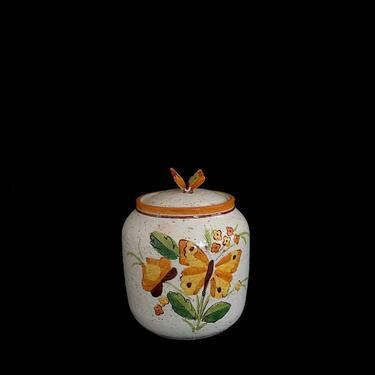 Vintage Mid Century Modern Bitossi Covered Urn Jar Vase w/ Butterly Theme Aldo Londi 1960s Italy Italian Ceramic Pottery Rosenthal Netter by SwankyChaperooo
