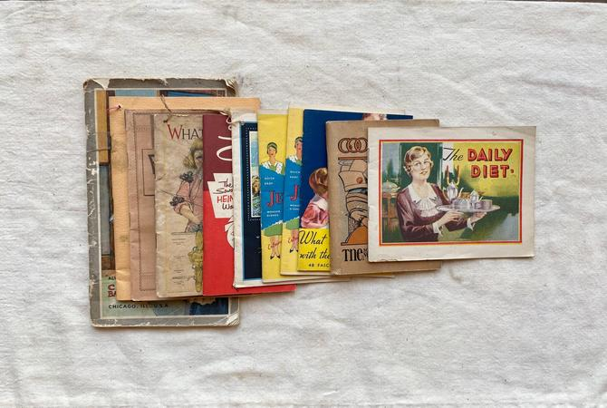 Vintage Lot of 10 Advertising Recipe Cook Books by NorthGroveAntiques
