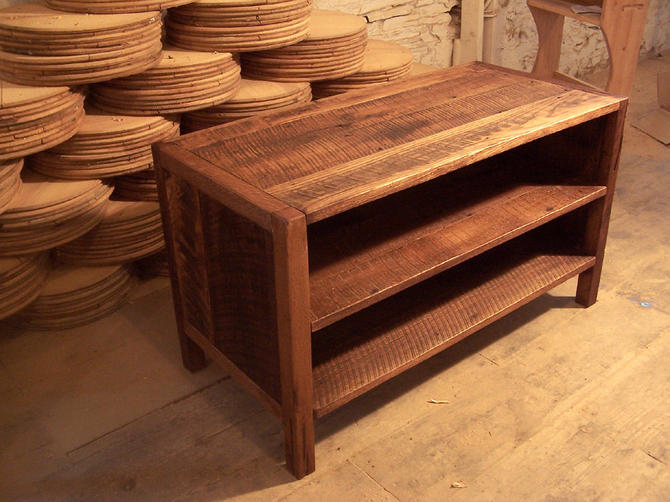 Solid Oak Rustic Media Console by BarnWoodFurniture