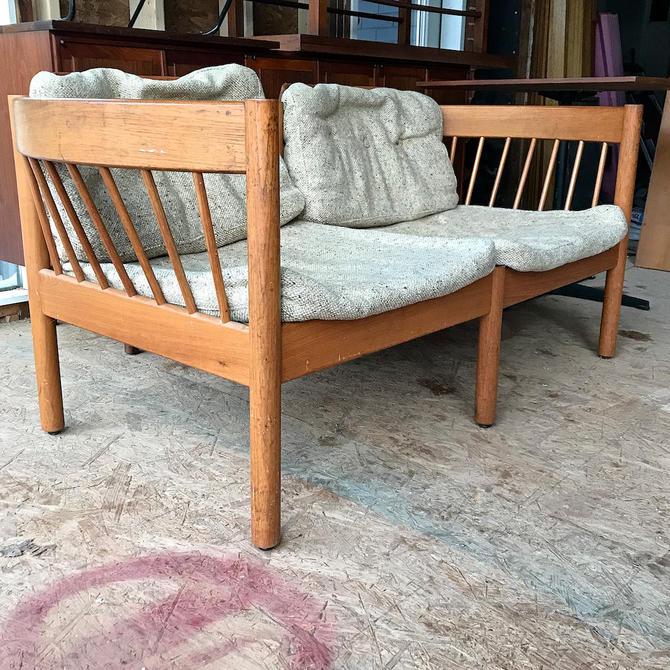 Rare Jorgen Baermark FDB Teak Loveseat Settee Vintage Mid-Century Modernist Scandinavian Design by BrainWashington