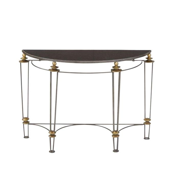 Go Home Black Stone Top Canton Console Table