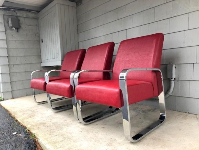 Trio of Midcentury Style Lounge Chairs