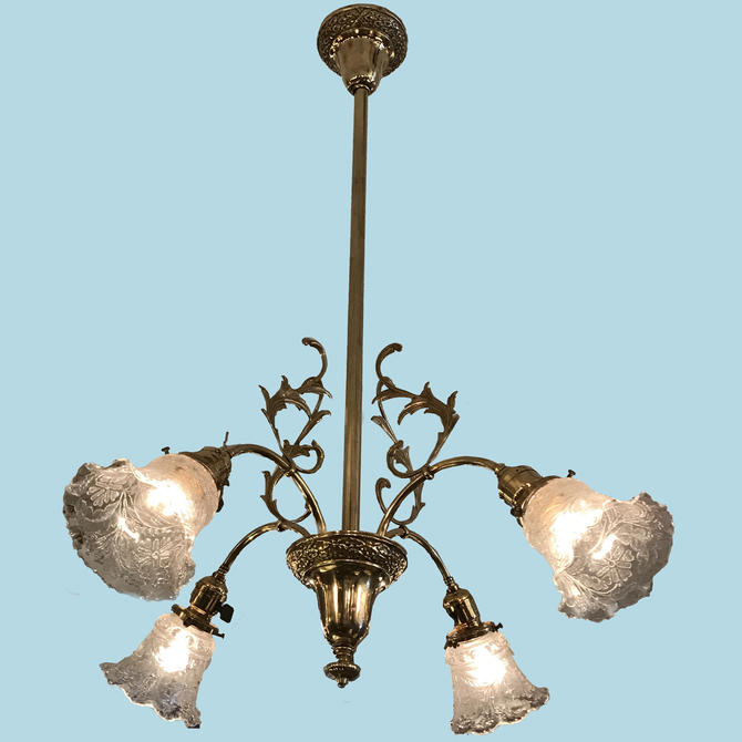 Late Victorian Ceiling Light