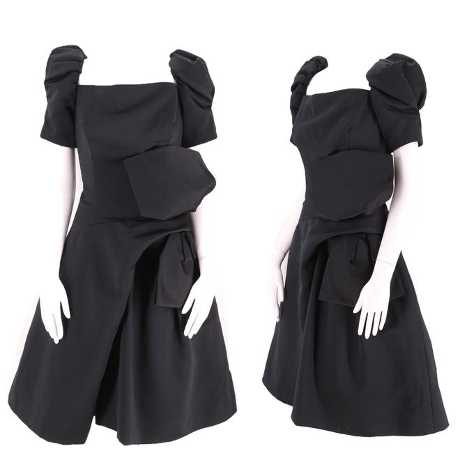 80s VICTOR COSTA black cocktail dress size 8 / vintage 1980s poufy origami extreme evening dress M by ritualvintage