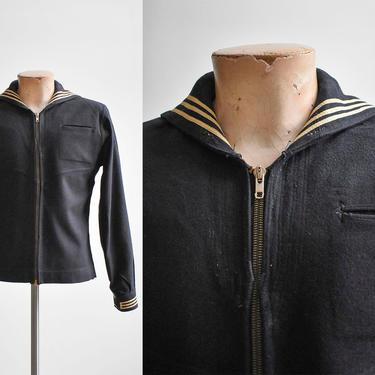 Vintage 1940s Sailor Pants / Vintage Wool Naval Uniform Slacks / Vintage Navy Pants / Vintage Sailor Pants / Vintage CrackerJack Slacks 29 by milkandice