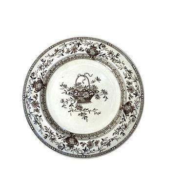 """Honfleur """" Oriental Ivory"""" Brown Transferware Dinner Plate by FunkyRelic"""