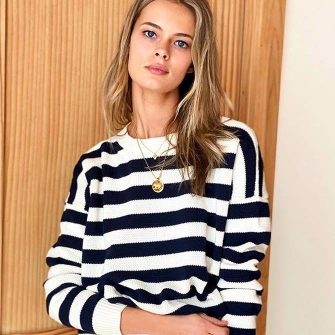 Carolyn Sweater in French Stripe