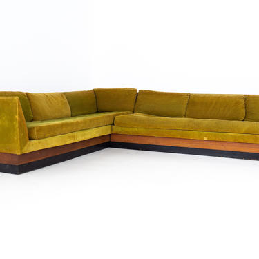 Adrian Pearsall for Craft Associates Mid Century Sectional Sleeper Sofa - mcm by ModernHill