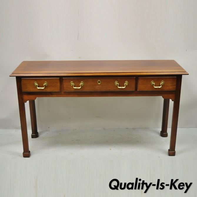 Link Taylor Heirloom Solid Mahogany 3 Drawer Georgian Console Sofa Hall Table