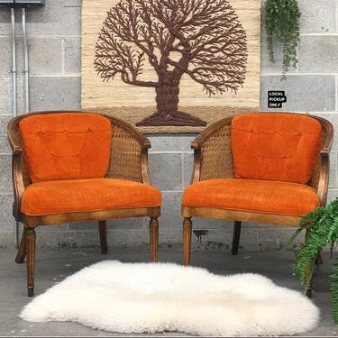 LOCAL PICKUP ONLY ———— Vintage Barrel Chair Set by RetrospectVintage215