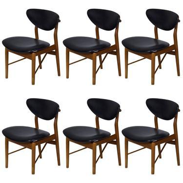 Set of Six Finn Juhl NV 55 Dining Chairs