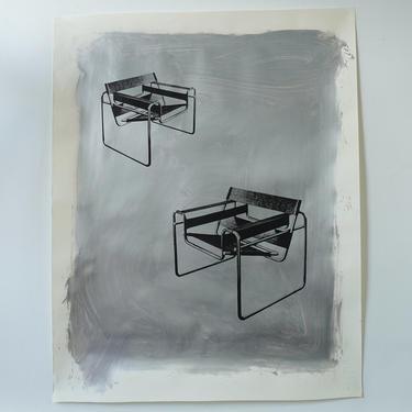 Breuer-Metallmobel Chairs Original Art Silver (signed)