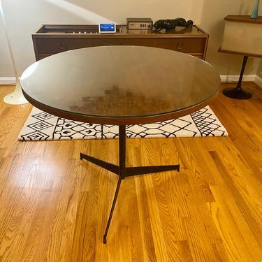 Paul McCobb Style Round Table Iron Base Midcentury Tripod by MSGEngineering