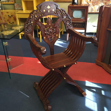Copper Inlay Chair from Afghanistan by AgentUpcycle