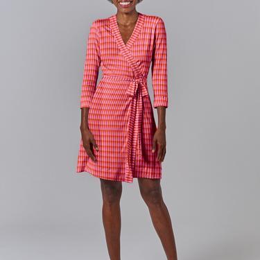 Rachel Wrap Dress | Classic Teardrop in Hot Pink