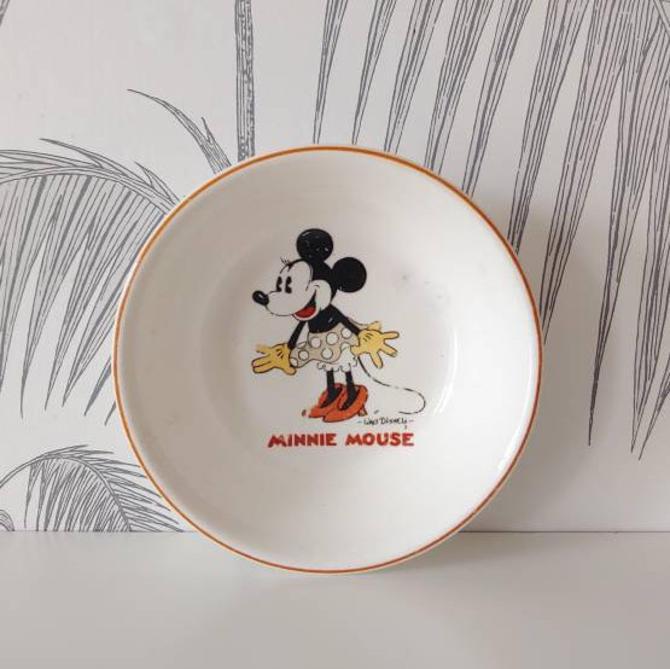 Vintage Bowl, Minnie Mouse, Walt Disney Enterprises, circa 50's by colortheoryBoston