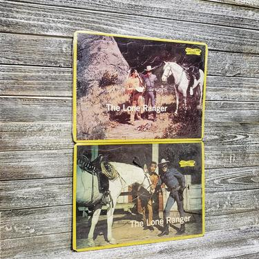 Vintage Lone Ranger Puzzle & Tonto Puzzle, 1970's SEALED Western Jigsaw Puzzles, Vintage TV Cowboys Indians, Country Western, Vintage Toys by AGoGoVintage