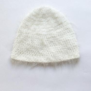 1970s Angora Knit Beanie by waywardcollection