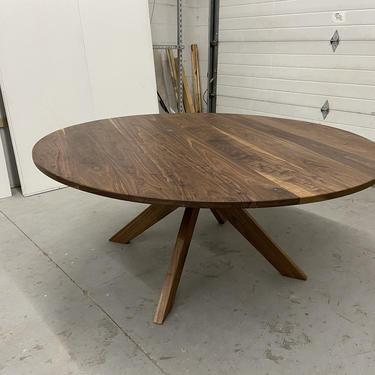 Round Midcentury Starburst Table by BevelDownDesign