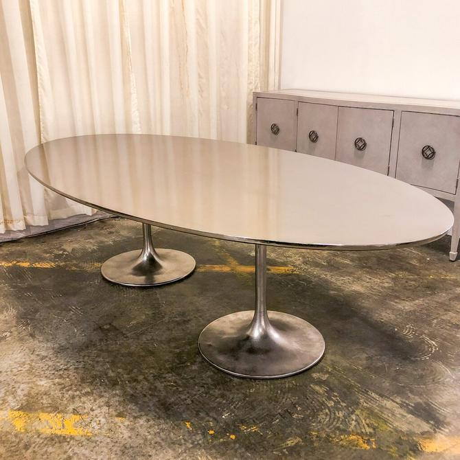 Silver Oval Dining Table