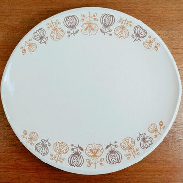 Franciscan Pomegranate| Large Chop Plate Platter | Gladding McBean GMB | 1954-58 by TheFeatheredCurator