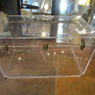 LARGE LUCITE TRUNK
