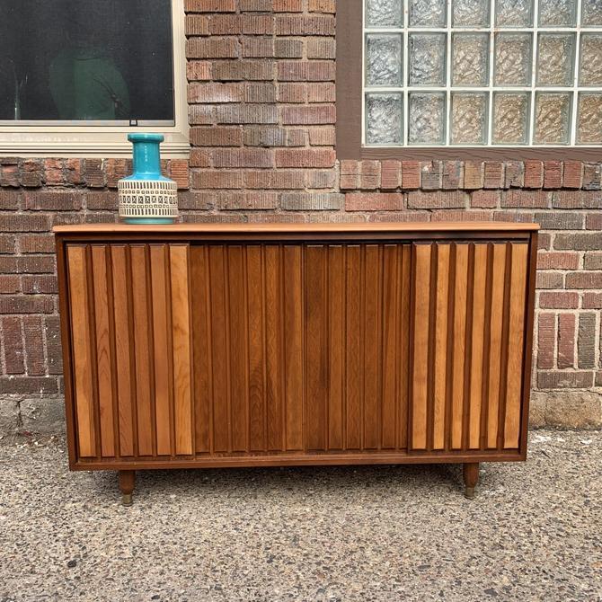 Vintage Sliding Door Media Cabinet / Sideboard