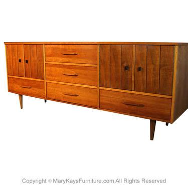Mid Century Triple Dresser Credenza by Marykaysfurniture