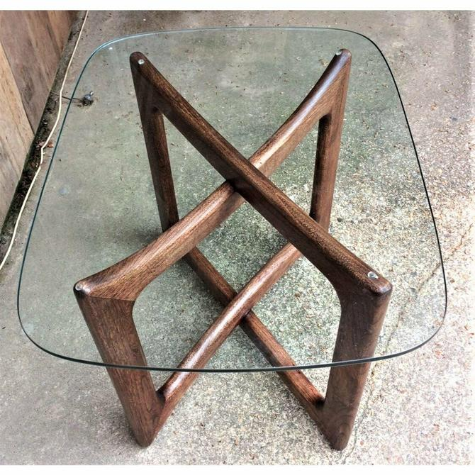 Adrian Pearsall Ribbon Side Table Walnut Dog Bone Base