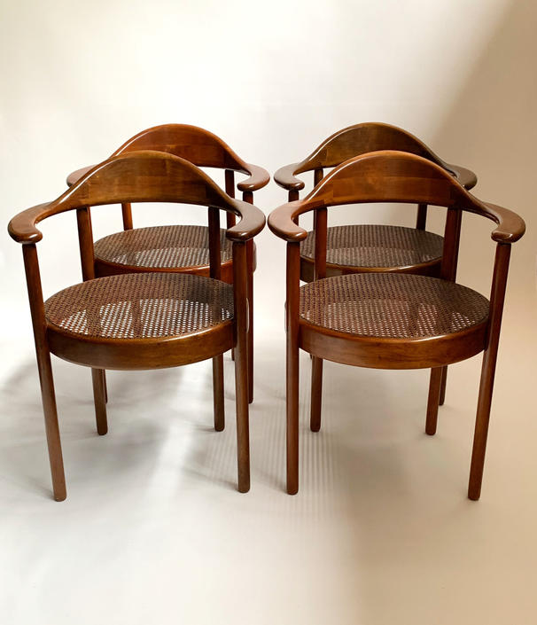 Vintage Viennese Secessionist Chairs. Heralds Josef Hoffman. Beautifully restored. by ModernMixPlus