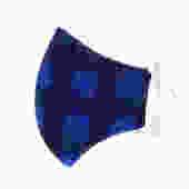 Blue Plaid Flannel Face Mask - Size LARGE