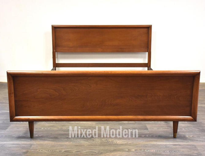 Mid Century Walnut Full Bed by mixedmodern1