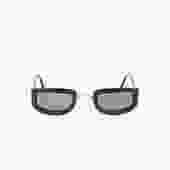 CHRISTIAN DIOR 90s Black Square Mini Sunglasses w/ Gold Bridge