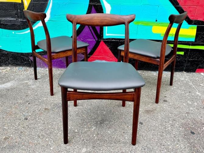 (3)  Danish Mid Century Sculptural Dining Chairs (each)