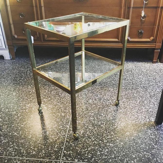 Brass & glass on wheels! $110.