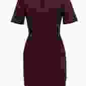 French Connection - Dark Plum Sheath Dress w/ Scalloped Neckline Sz 6