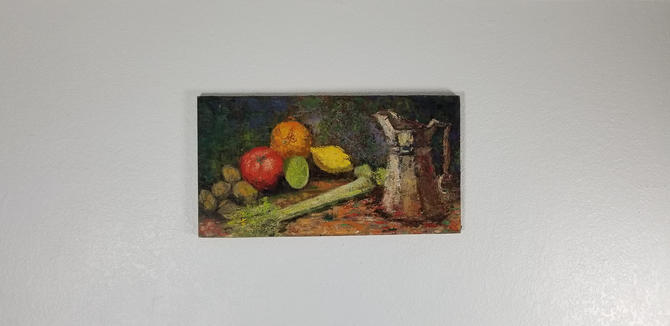 Vintage Tania Priest  Still  Life With  Fruit  Oil On Canvas  Painting . by MIAMIVINTAGEDECOR
