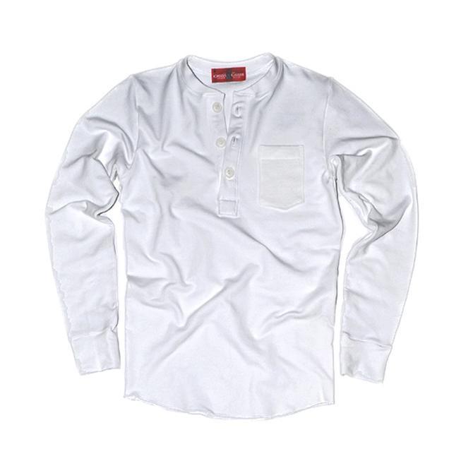 Sweatshirt Henley (White)