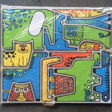 Takahashi Zoo Animals Design Jig Saw Wood Puzzle by Moderndesign20