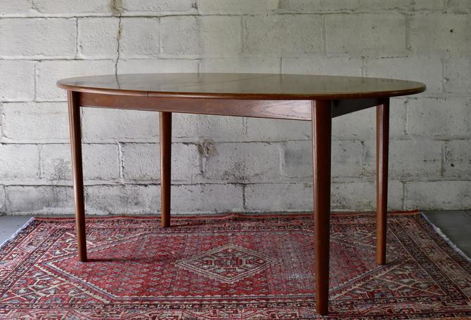 Mid Century Modern Teak Dining Table by Peter Hvidt for John Stuart by CIRCA60