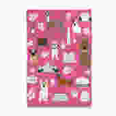 Cherry Blossom Puppies Tea Towel